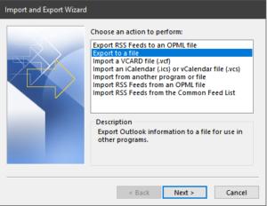 O365 PST Export - Webbanshee