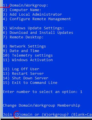 Join AD Domain Server Core - Server 2019 - Webbanshee